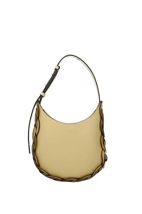 Chloé Crossbody Bag darrly Women Leather Yellow Oat