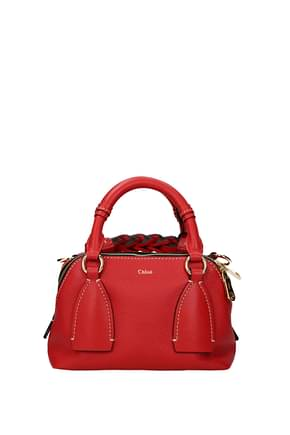 Chloé Handbags daria Women Leather Red