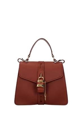 Chloé Handbags Women Leather Brown Tan