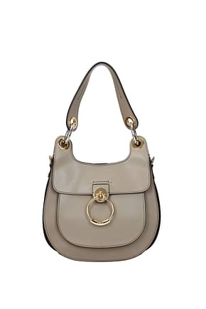 Chloé Shoulder bags Women Leather Gray Grey