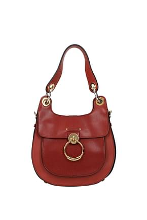 Chloé Shoulder bags Women Leather Brown Tan