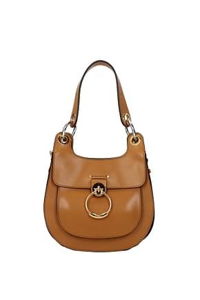Chloé Shoulder bags Women Leather Brown Capuchin