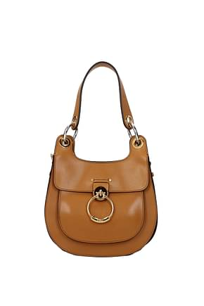 Chloé Shoulder bags Women Leather Brown Capuchin