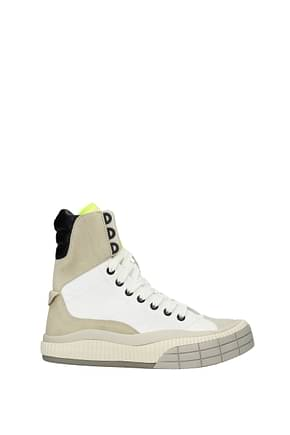 Chloé Sneakers Women Fabric  White Fluo Yellow