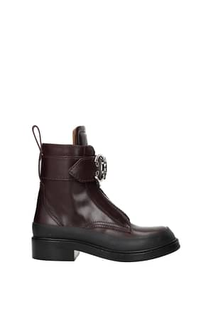 Chloé Ankle boots Women Leather Violet