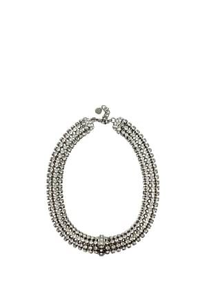 Miu Miu Necklaces Women Metal Silver