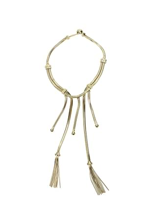 Prada Necklaces Women Metal Gold