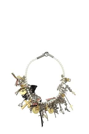Saint Laurent Necklaces Women Pearl White