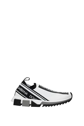 Dolce&Gabbana Sneakers sorrento Men Fabric  White Black