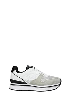 Armani Emporio Sneakers Mujer Piel Blanco Gris