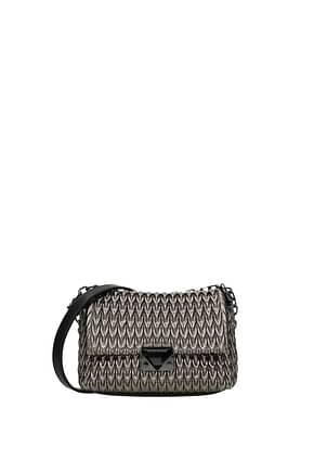 Armani Emporio Crossbody Bag Women Polyester Gray