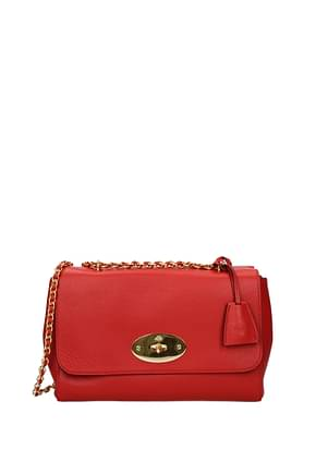Mulberry Crossbody Bag lily Women Leather Red Ruby