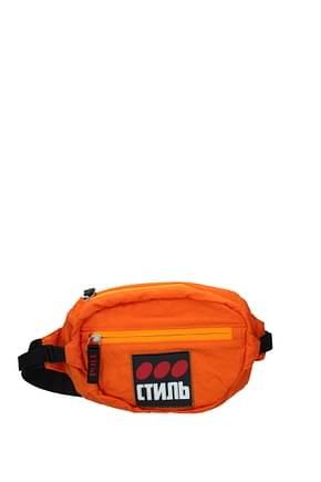Heron Preston Backpack and bumbags Men Fabric  Orange