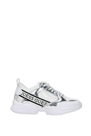 Guess Sneakers Women Fabric  Silver