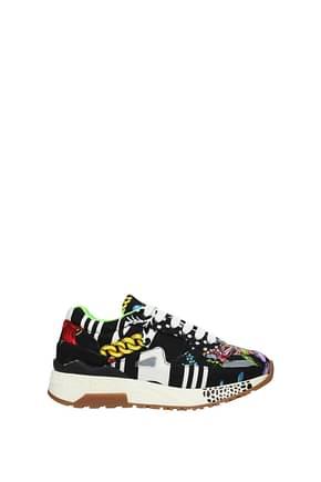 Versace Sneakers Donna Tessuto Multicolor