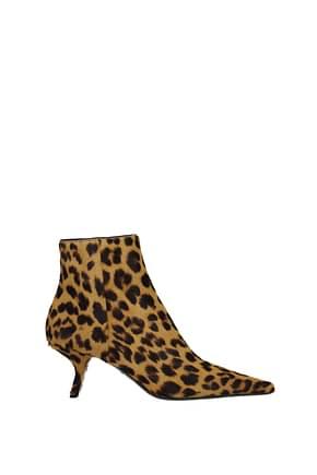 Prada Ankle boots Women Pony Skin Brown