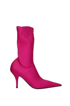 Balenciaga Ankle boots Women Fabric  Fuchsia
