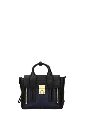3.1 Phillip Lim Handbags pashli Women Leather Black Blue