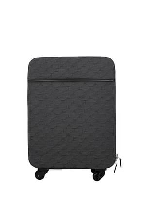 Stella McCartney Wheeled Luggages Women Fabric  Gray