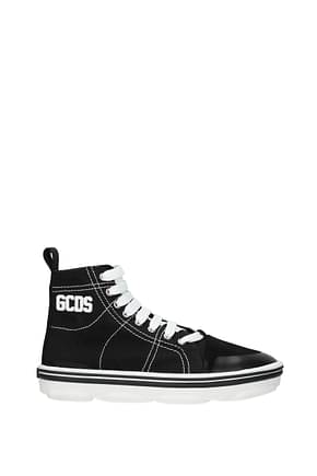 GCDS Sneakers Men Fabric  Black