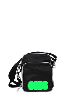 GCDS Crossbody Bag Men Fabric  Black