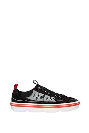 GCDS Sneakers Men Fabric  Black