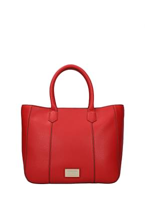 Armani Emporio Handbags Women PVC Red
