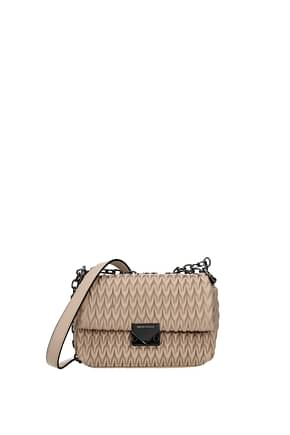Armani Emporio Crossbody Bag Women Polyester Beige