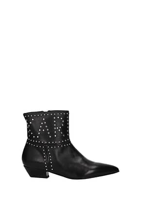 Karl Lagerfeld Ankle boots Women Leather Black