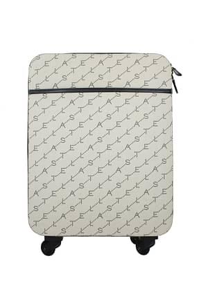 Stella McCartney Wheeled Luggages Women Fabric  Beige Black