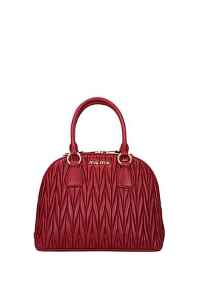 Miu Miu Handbags Women Leather Red