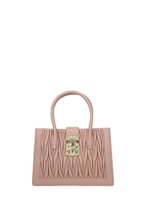 Miu Miu Handbags Women Leather Pink