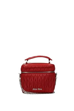 Miu Miu Handbags Women Leather Red