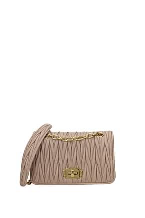 Miu Miu Crossbody Bag Women Leather Pink