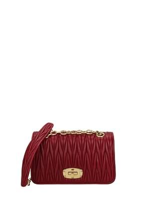 Miu Miu Crossbody Bag Women Leather Red