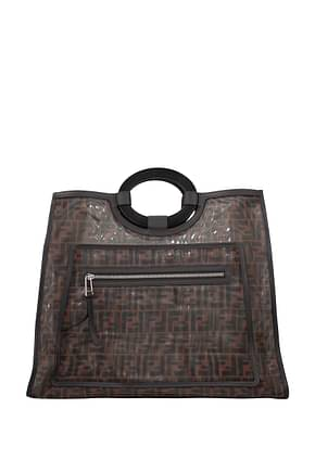 Fendi Handbags runaway  Women Fabric  Brown