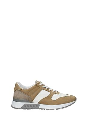 Tod's Sneakers Men Fabric  White Fawn