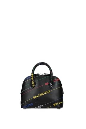 Balenciaga Handbags Women Leather Black