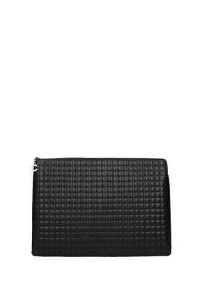 Celine Clutches Women Leather Black
