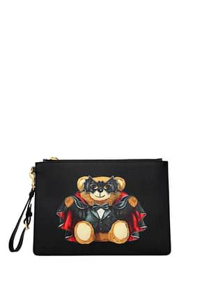 Moschino Clutches Women Fabric  Black