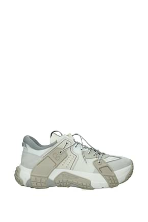 Valentino Garavani Sneakers Men Leather Beige Light Grey