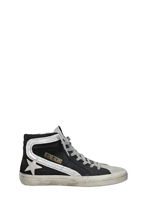 Golden Goose Sneakers slide Men Fabric  Black Silver