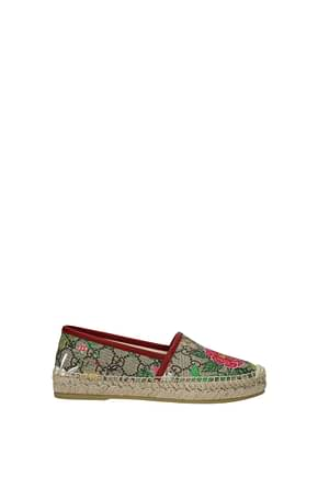 Gucci Espadrilles Women Fabric  Red