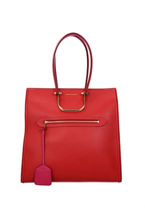 Alexander McQueen Shoulder bags Women Leather Red Fuchsia