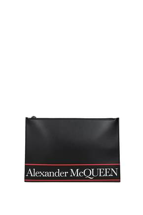 Alexander McQueen Clutches Men Leather Black