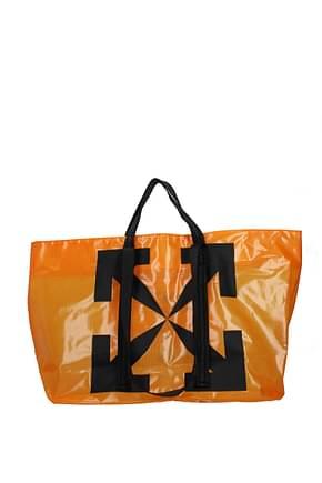 Off-White Handtaschen Herren Polyurethan Orange