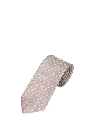Bulgari Ties Men Silk Pink