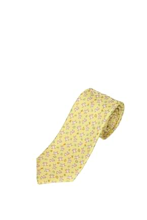 Bulgari Ties Men Silk Yellow