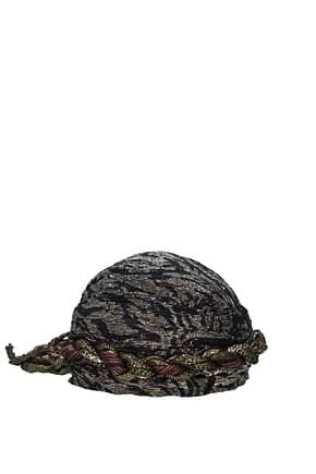Saint Laurent Hats Women Metallic Fiber Multicolor