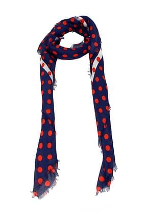 Gucci Foulards Damen Modal Blau Rot